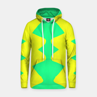 Yellow and green zigzag Hoodie thumbnail image