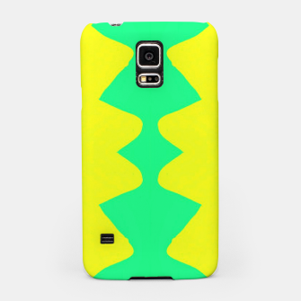 Miniatur Yellow and green zigzag Samsung Case, Live Heroes