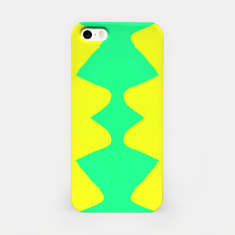 Yellow and green zigzag iPhone Case thumbnail image