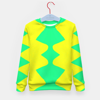 Yellow and green zigzag Kid's sweater thumbnail image