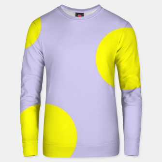 Thumbnail image of Yellow circles on gray Unisex sweater, Live Heroes