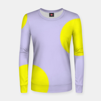 Thumbnail image of Yellow circles on gray Women sweater, Live Heroes