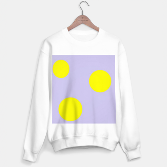 Thumbnail image of Yellow circles on gray Sweater regular, Live Heroes