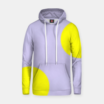 Thumbnail image of Yellow circles on gray Hoodie, Live Heroes
