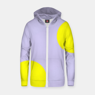 Thumbnail image of Yellow circles on gray Zip up hoodie, Live Heroes