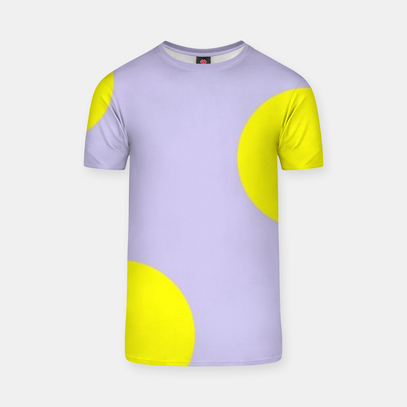 Image of Yellow circles on gray T-shirt - Live Heroes