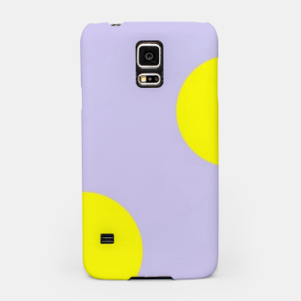 Miniatur Yellow circles on gray Samsung Case, Live Heroes