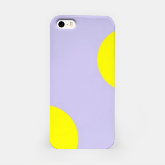 Thumbnail image of Yellow circles on gray iPhone Case, Live Heroes