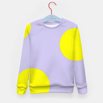 Thumbnail image of Yellow circles on gray Kid's sweater, Live Heroes