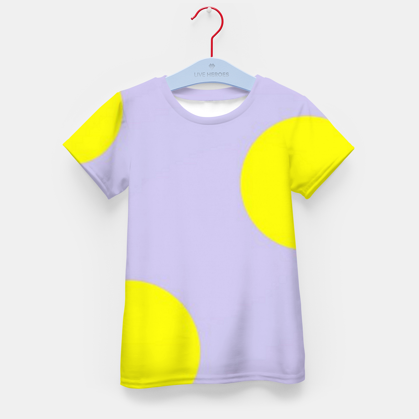 Image of Yellow circles on gray Kid's t-shirt - Live Heroes