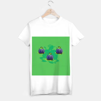 Thumbnail image of Plums on green T-shirt regular, Live Heroes