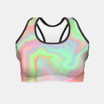 Thumbnail image of Colorful liquid waves 91 Crop Top, Live Heroes