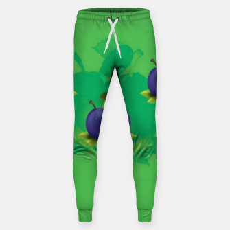 Thumbnail image of Plums on green Sweatpants, Live Heroes