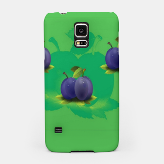 Miniatur Plums on green Samsung Case, Live Heroes