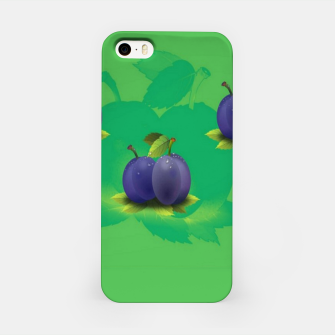Plums on green iPhone Case thumbnail image