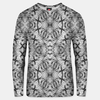 Thumbnail image of Black and White Ornate Pattern Unisex sweater, Live Heroes