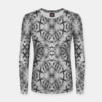 Thumbnail image of Black and White Ornate Pattern Women sweater, Live Heroes