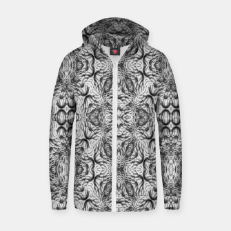 Thumbnail image of Black and White Ornate Pattern Zip up hoodie, Live Heroes