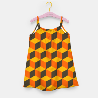 Thumbnail image of 70s Cubes Girl's dress, Live Heroes
