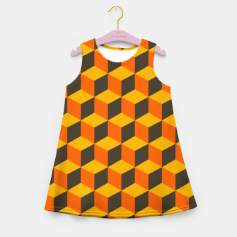 Thumbnail image of 70s Cubes Girl's summer dress, Live Heroes