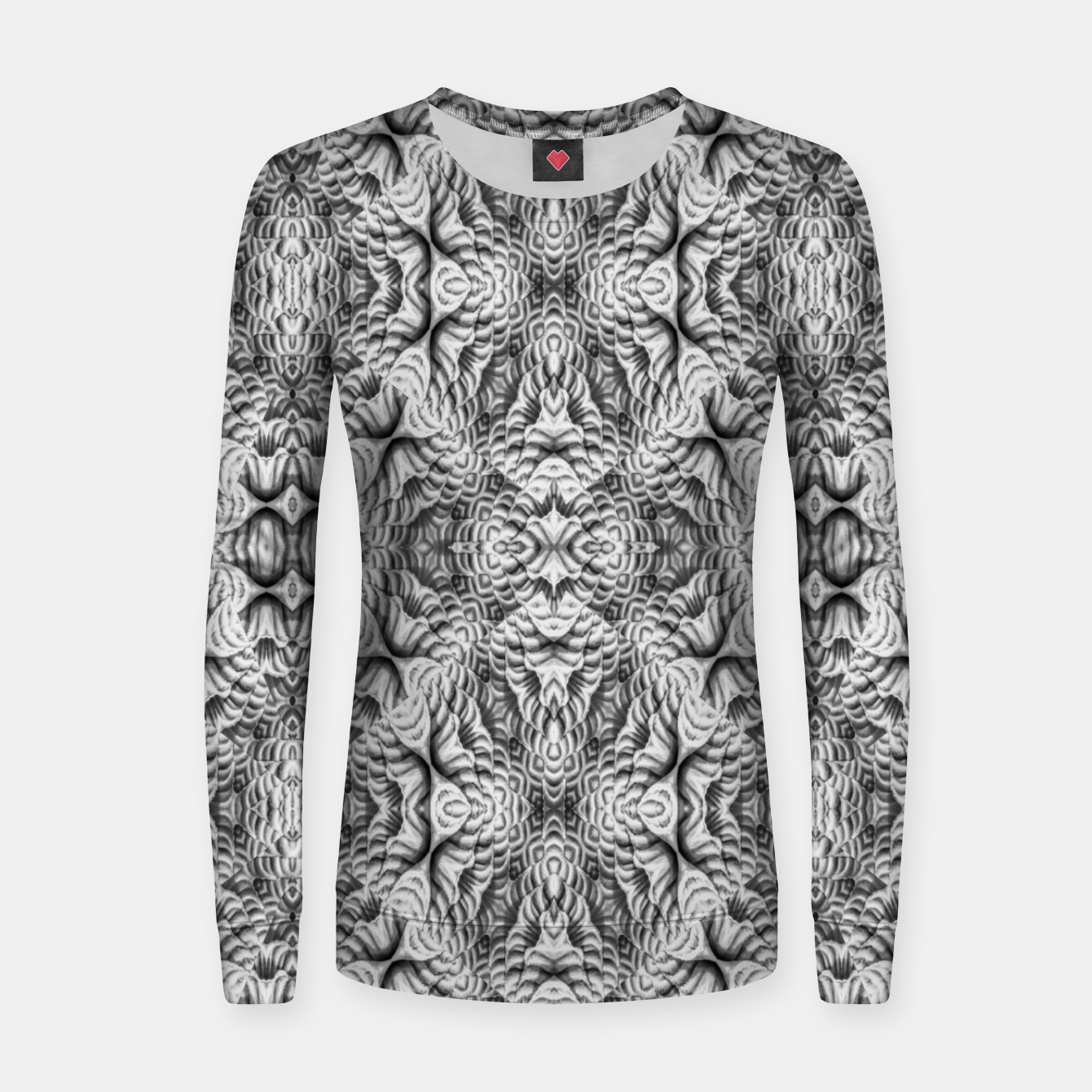 Image of Black and White Ornate Pattern Women sweater - Live Heroes
