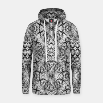 Thumbnail image of Black and White Ornate Pattern Hoodie, Live Heroes