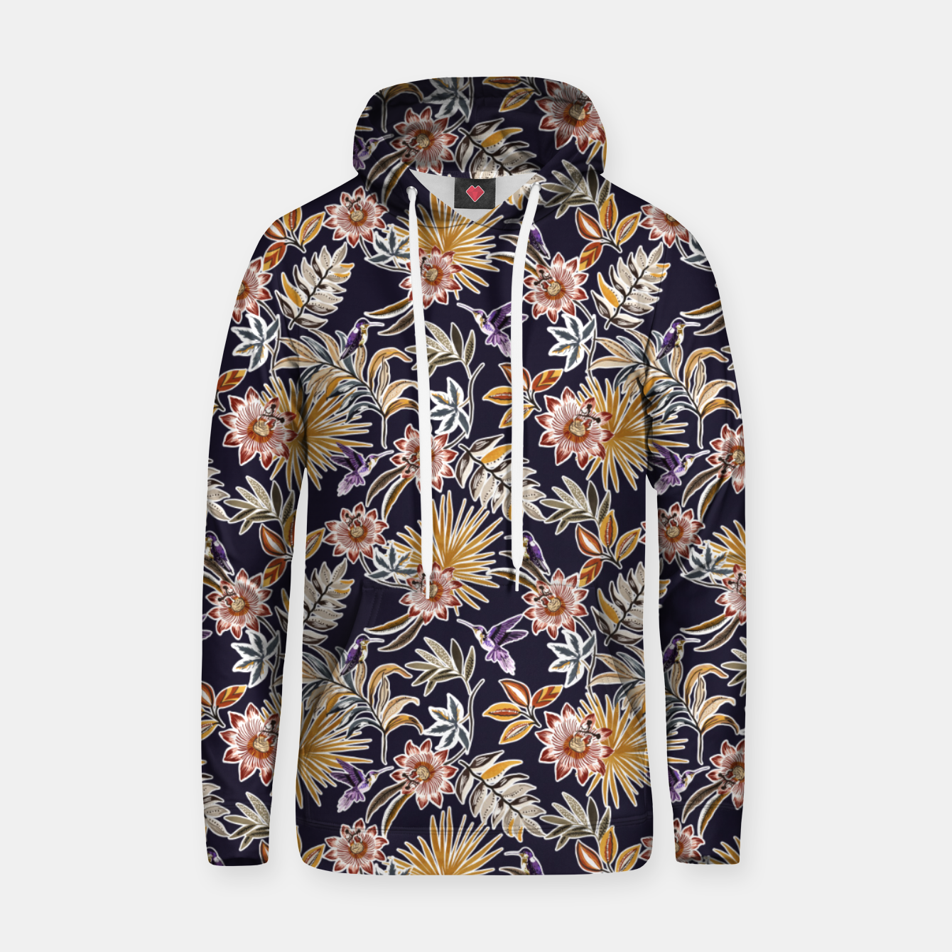 Image of Hummingbird in tropical flowers 45 Sudadera con capucha - Live Heroes
