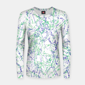 Thumbnail image of Abstract Textured Print Design Women sweater, Live Heroes