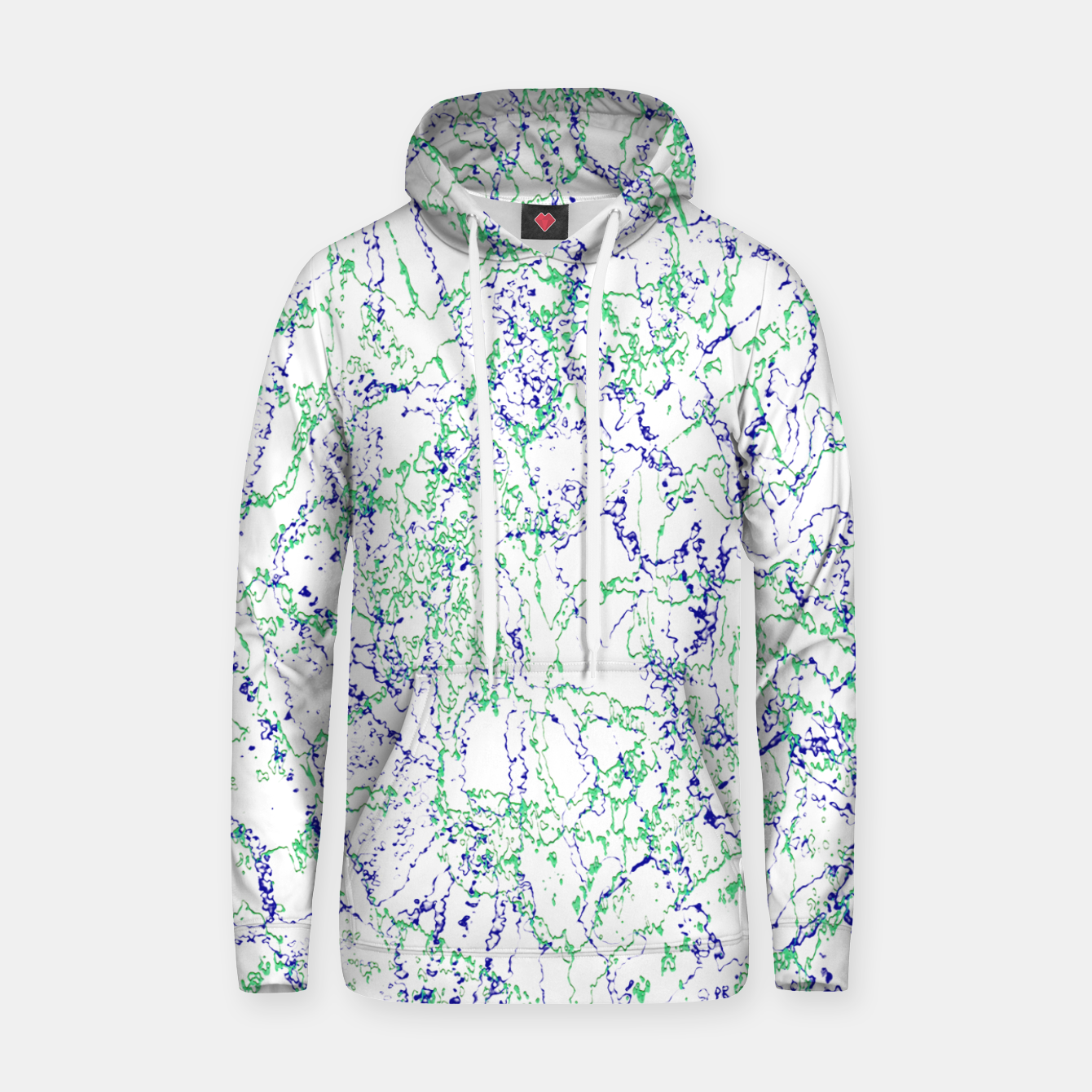 Image of Abstract Textured Print Design Hoodie - Live Heroes