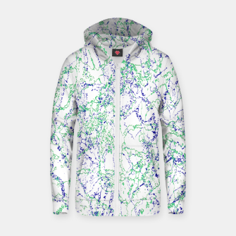 Thumbnail image of Abstract Textured Print Design Zip up hoodie, Live Heroes