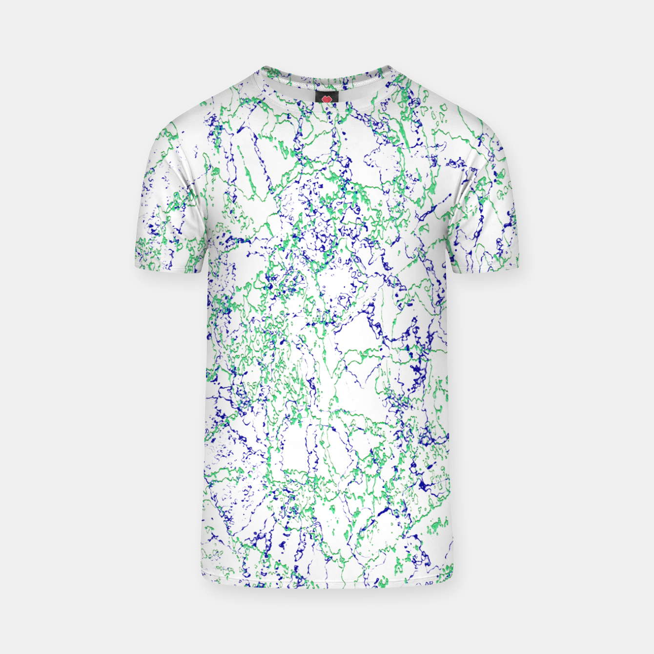 Image of Abstract Textured Print Design T-shirt - Live Heroes