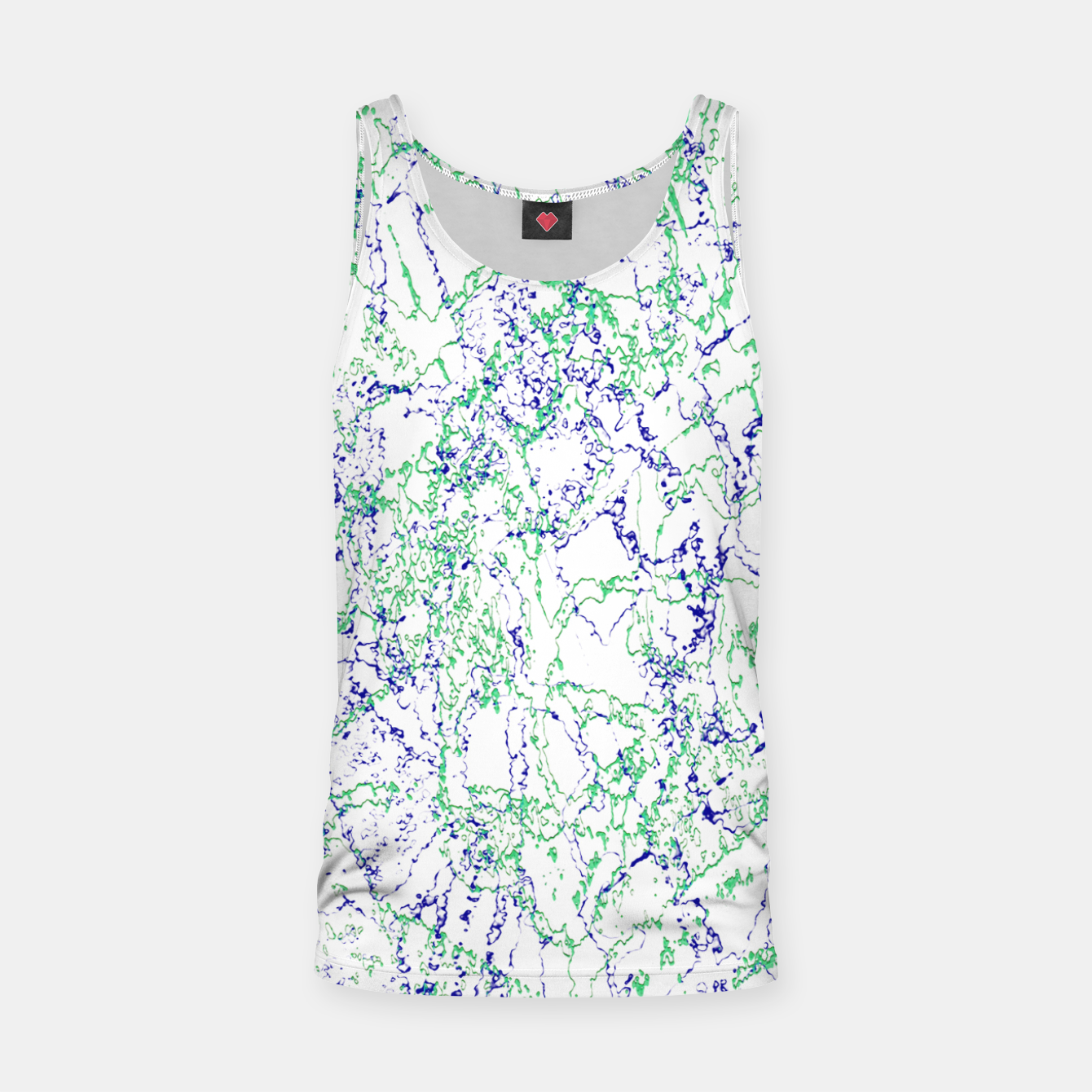 Image of Abstract Textured Print Design Tank Top - Live Heroes