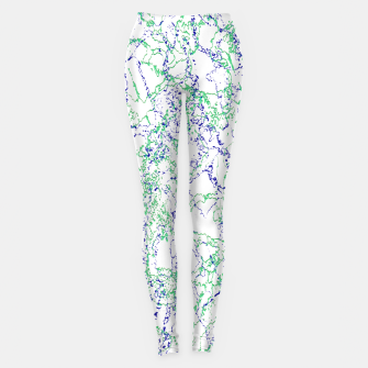 Thumbnail image of Abstract Textured Print Design Leggings, Live Heroes