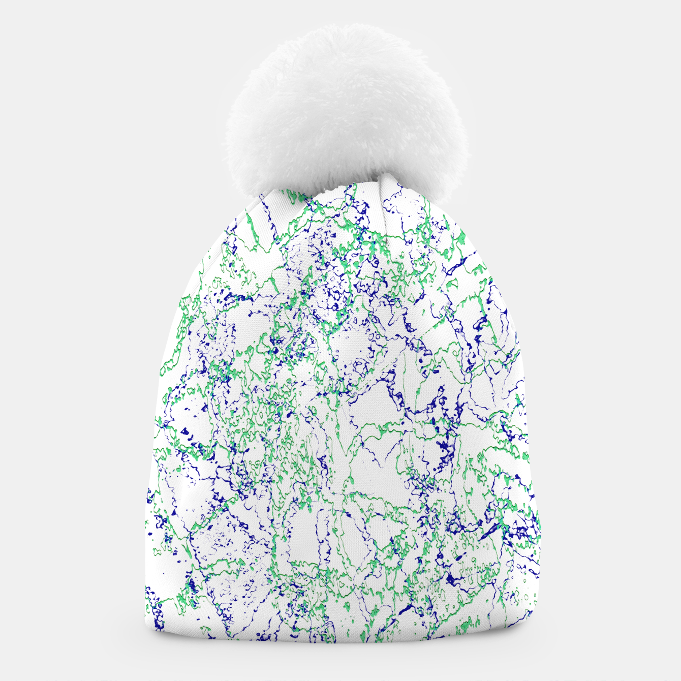 Image of Abstract Textured Print Design Beanie - Live Heroes