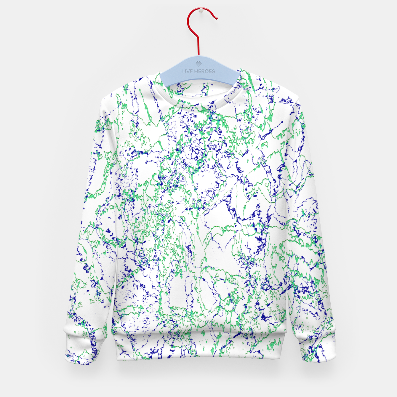 Image of Abstract Textured Print Design Kid's sweater - Live Heroes