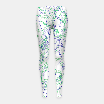 Thumbnail image of Abstract Textured Print Design Girl's leggings, Live Heroes