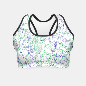 Thumbnail image of Abstract Textured Print Design Crop Top, Live Heroes