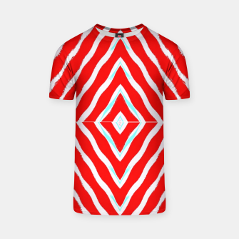 Thumbnail image of Red and white diamond shapes T-shirt, Live Heroes