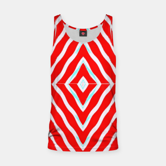 Thumbnail image of Red and white diamond shapes Tank Top, Live Heroes