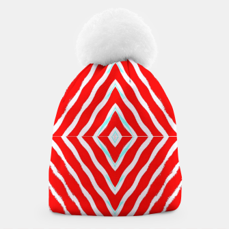 Miniatur Red and white diamond shapes Beanie, Live Heroes