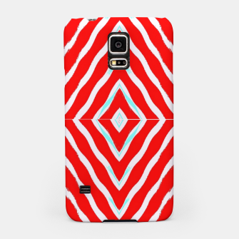 Miniatur Red and white diamond shapes Samsung Case, Live Heroes