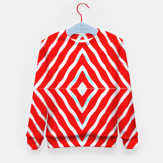 Miniature de image de Red and white diamond shapes Kid's sweater, Live Heroes