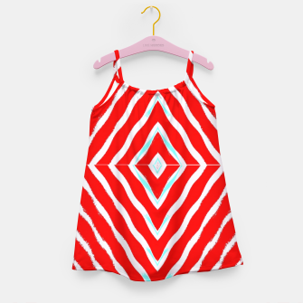 Thumbnail image of Red and white diamond shapes Girl's dress, Live Heroes