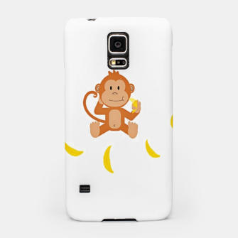 Miniatur Monkey and bananas Samsung Case, Live Heroes