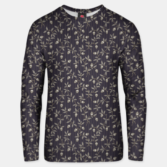 Miniatur Ornate hazel branches in grey Unisex sweater, Live Heroes