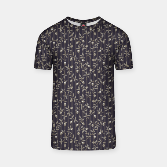 Miniatur Ornate hazel branches in grey T-shirt, Live Heroes