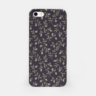 Miniatur Ornate hazel branches in grey iPhone Case, Live Heroes