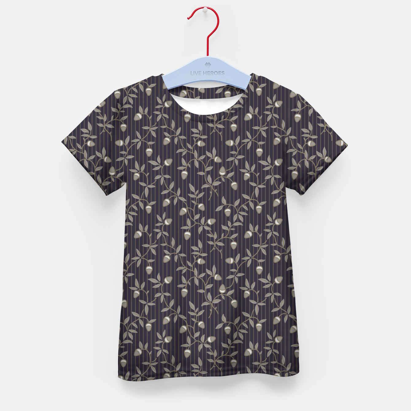 Image of Ornate hazel branches in grey Kid's t-shirt - Live Heroes
