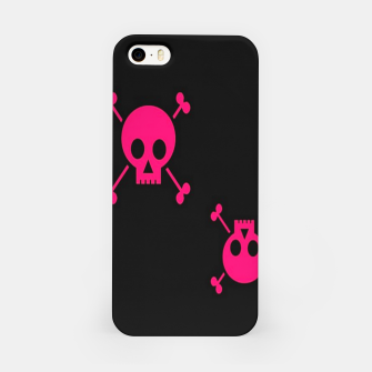 Thumbnail image of Pink skulls pattern iPhone Case, Live Heroes