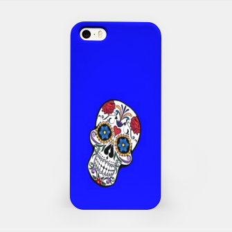 Thumbnail image of Sugar skulls on blue iPhone Case, Live Heroes